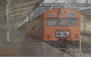 福島尚 中央線(特別快速東京駅1番線) - 第4回 障がい者アート展