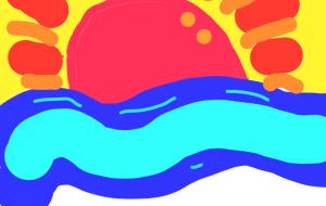 海と日の出 - トゥー・A・ルルカ