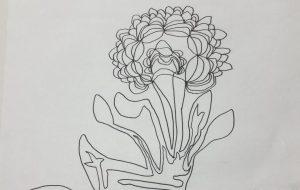 ひとふで描き 花 - yu_ta