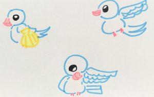 白い鳥 2 - クルミ