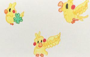 黄色い鳥 1 - クルミ