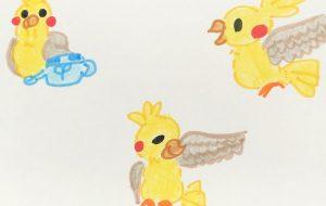 黄色い鳥 2 - クルミ