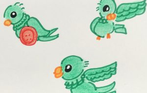 緑の鳥 1 - クルミ