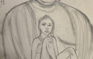 少女と大仏様(阿弥陀如来様) - 大野貴士