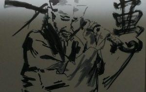 情報資格試験_小悪党、担ぎ抜刀 - 可能性アートプロジェクト 2020
