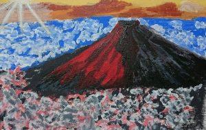 難しかったね、赤富士 - ジル