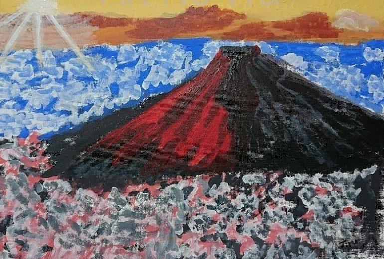 難しかったね、赤富士