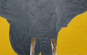 初描き。アフリカゾウ - ジル