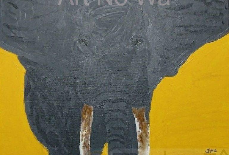 初描き。アフリカゾウ