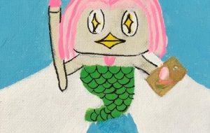 絵を描くアマビエさま - Yugo