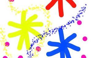 花たちと水玉と星たち - トゥー・A・ルルカ