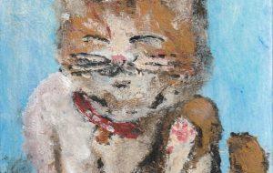 首を掻く猫 - 阿部貴志