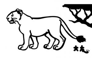 マサイライオン - シマハイエナ