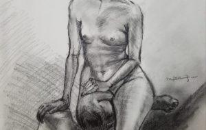 モデルデッサン(裸婦) - 古城まどか