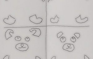 左上が猫、右上が犬、左下が兎、右下が熊 - 情報資格試験
