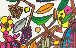 葡萄の木とエンゼルフィッシュ - 田中郷