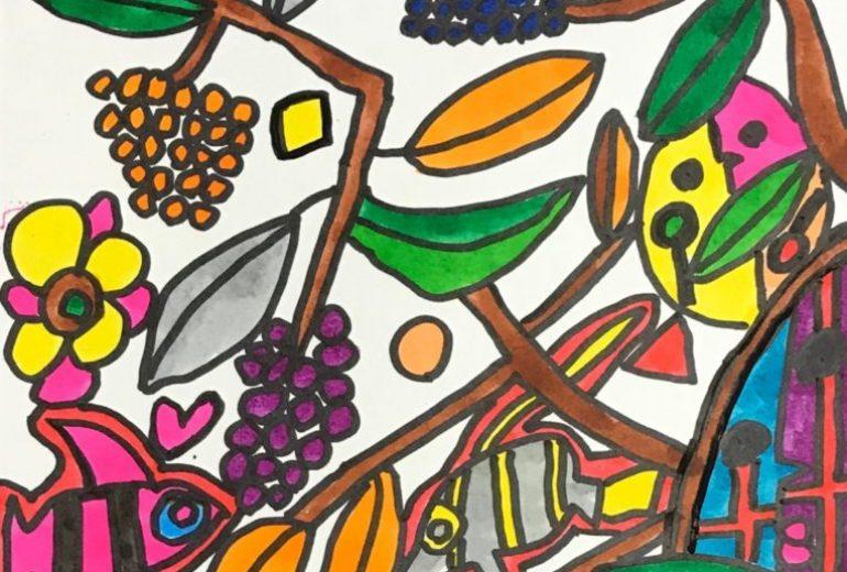 葡萄の木とエンゼルフィッシュ