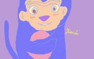 青いゴリラ、青い猿 - yuusuke47
