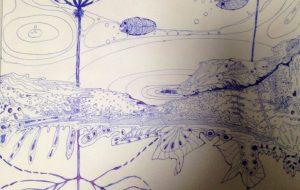 睡蓮の池 - kana