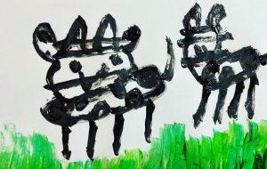 親子牛 - 笹谷正博