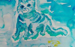 「あおいえ」 猫 - おひさま