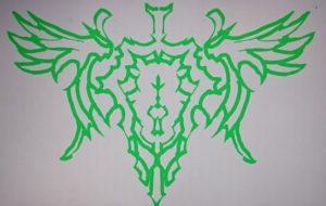 右手緑紋章 - 池田 旬