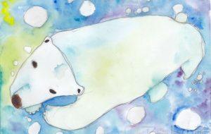 泳ぐシロクマ - toki