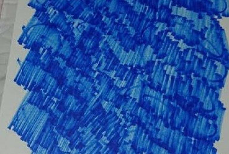 こころ絵ー斜「青の世界」