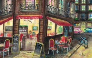 夜のカフェ in Paris - Yuki