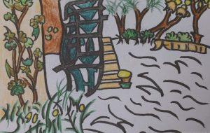 水車のある風景 - チャーミー