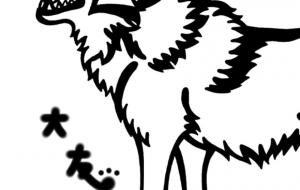 ヨーロッパオオカミ - シマハイエナ