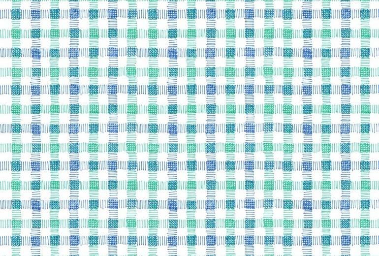 青と緑のチェック