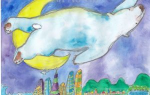 街を泳ぐシロクマ - toki