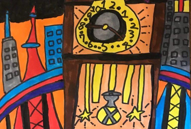 大都市と時計塔