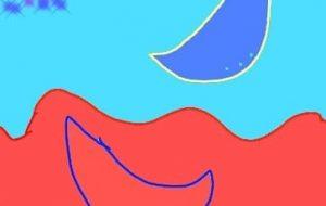赤と青の月と星空 - トゥー・A・ルルカ