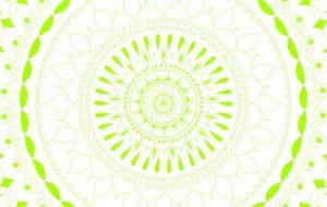 曼陀羅模様 鮮やかな緑 - Mai姫
