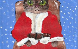 Santa claus cat - 阿部貴志