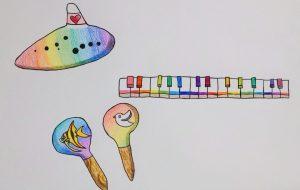 カラフルな楽器たち - SAYAKA