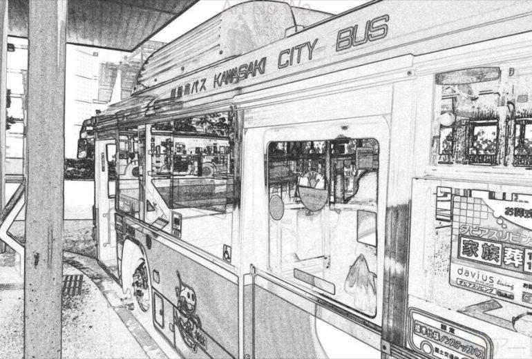 鉛筆画風の川崎市バス その1
