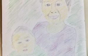 おばあちゃんとひ孫 - 雲ノ手太郎