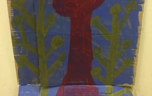 赤いキノコと雑草 - シンゴ