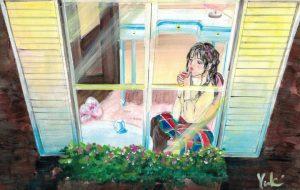お茶を飲みながら - Yuki
