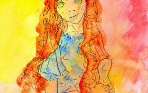 青いドレスの少女 - 阿部貴志