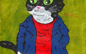 青いコートの猫 - 阿部貴志