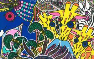 キリンと富士と再生の神のゾウ - カタツムリ