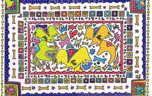 カラフル犬 - カタツムリ