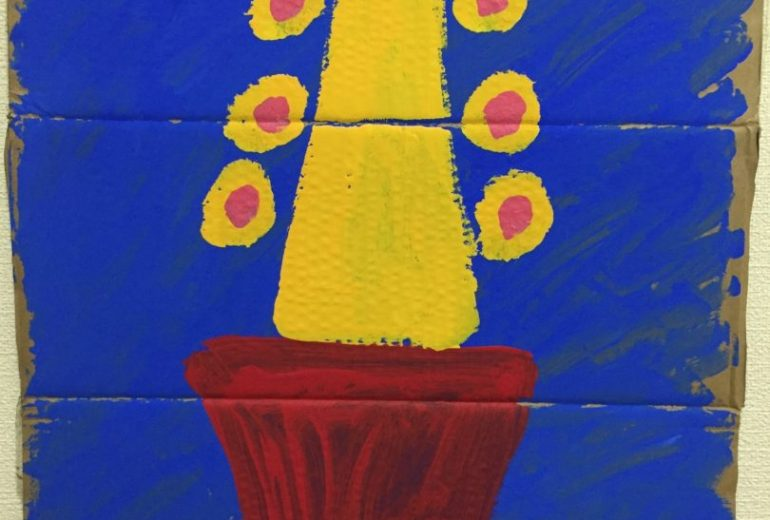 黄色いサボテン