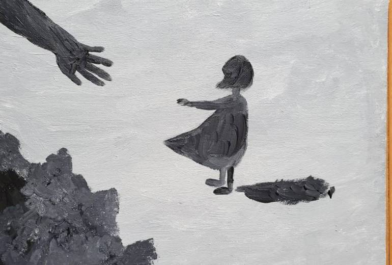 闇の手に招かれる少女