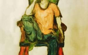 椅子に座る人 - 小林由樹