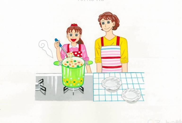 ママとお料理♪